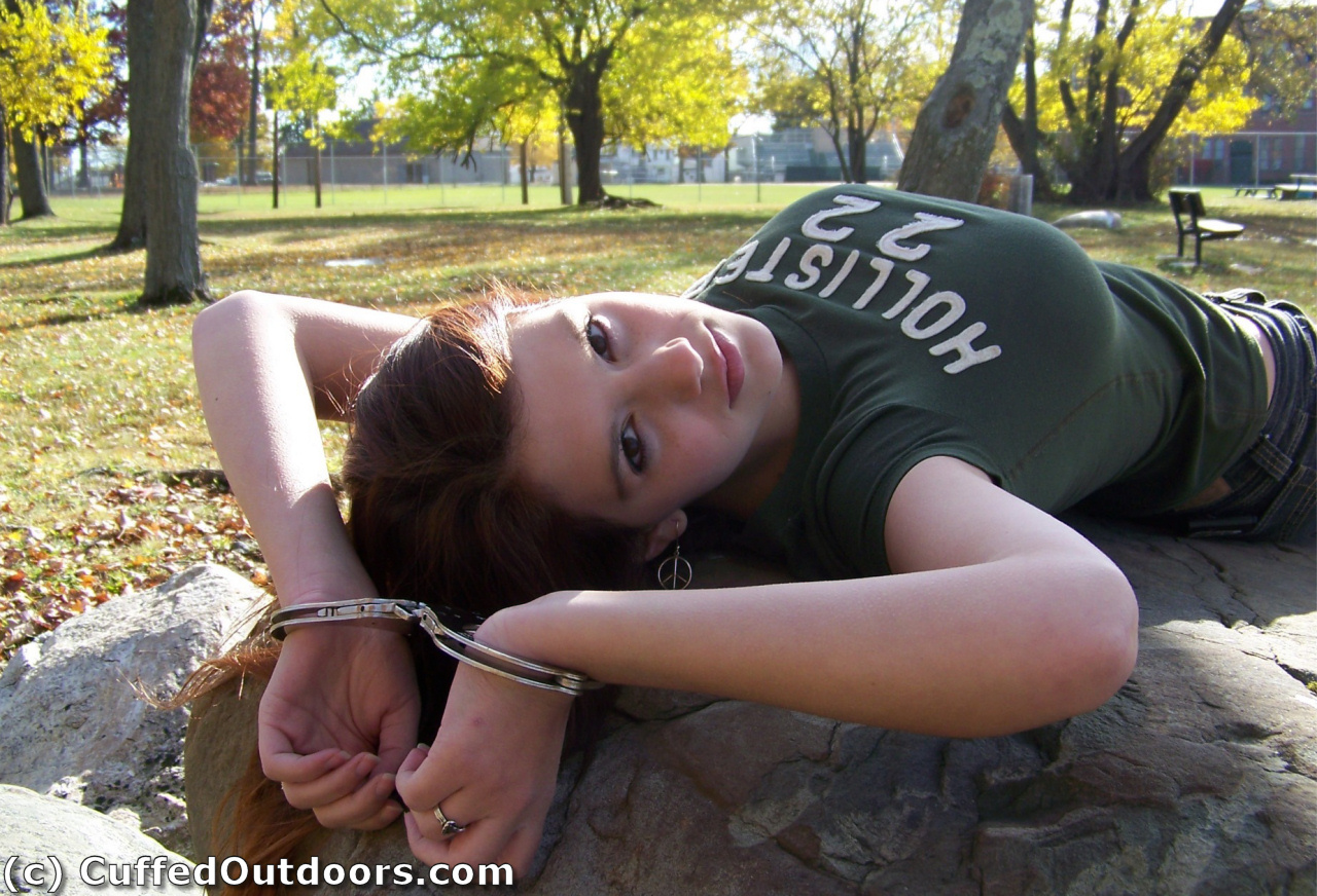 Handcuffed to a tree on a walking trail 5